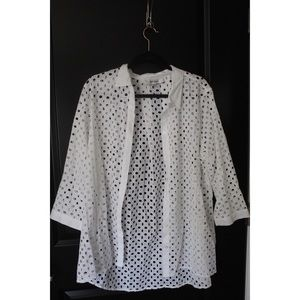 Button up, lace design inspired shirt!